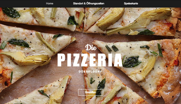 Restaurants & Essen website templates – Pizzarestaurant