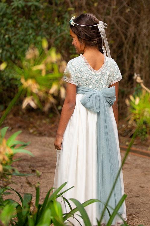 Vestido de Comunión Valentina Mint