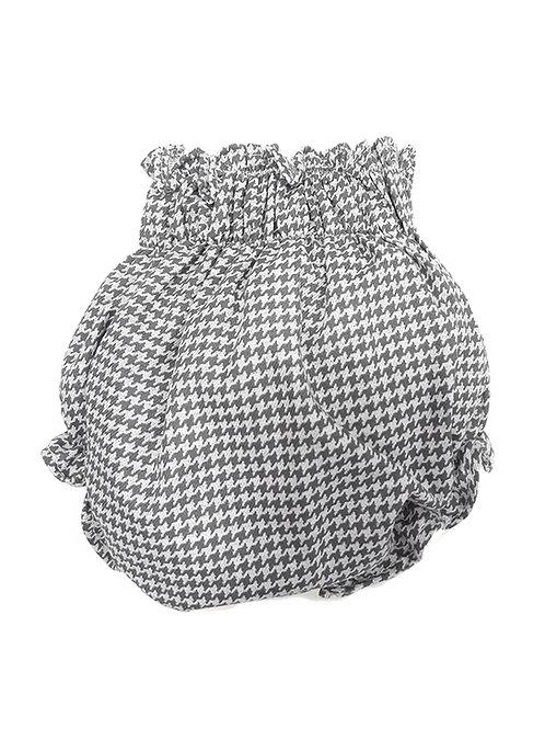 Culotte pata de gallo gris