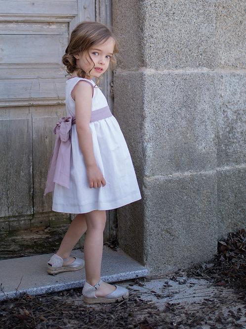 Vestido Ceremonia Lino rosa