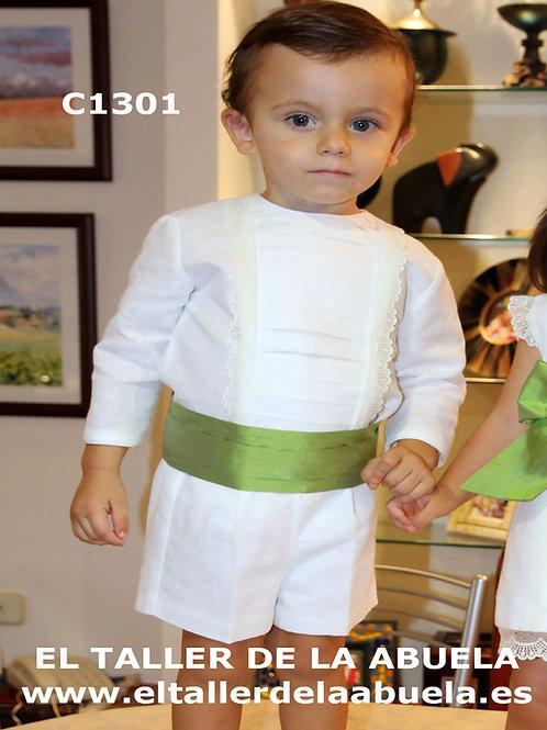 Traje de arras C1301 - Conjunto de niño de lino