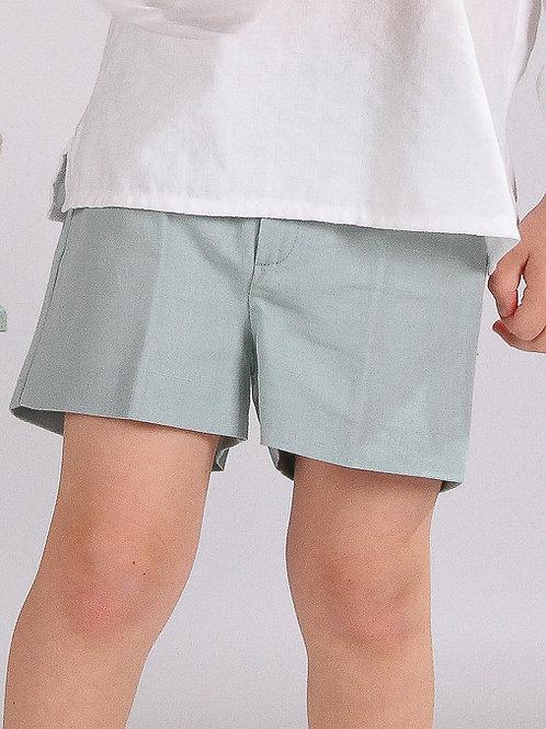 Pantalón corto lino verde