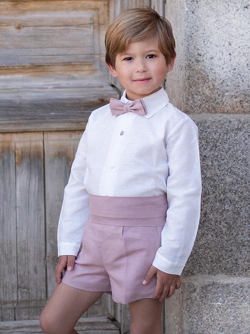 Niño de arras 4 piezas (short+camisa+fajin+pajarita)
