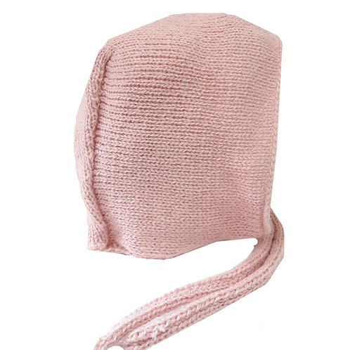 Capota de punto rosa