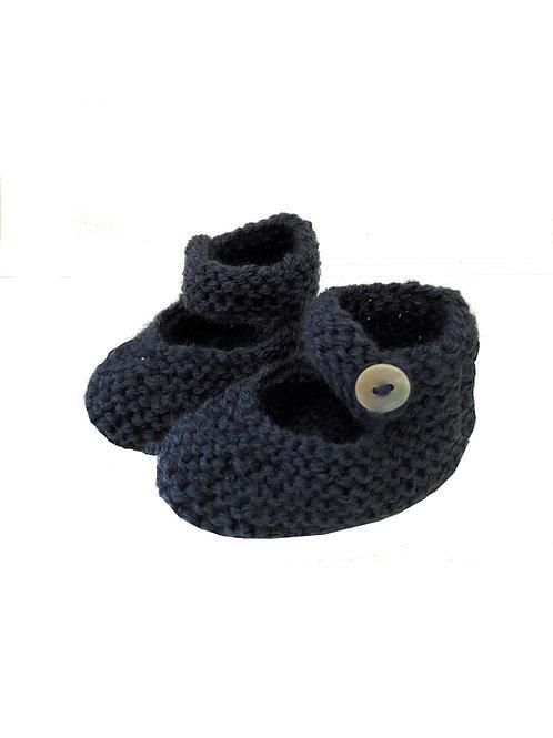 patucos a mano de lana azulona