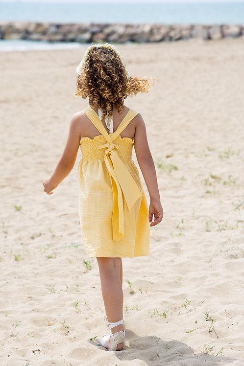 Vestido gomas arpi amarillo