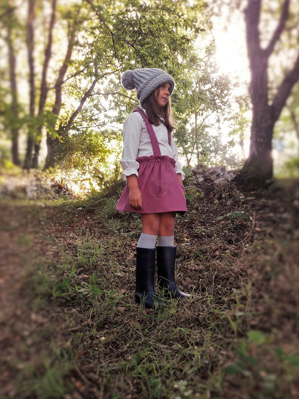faldas de niñas con tirantes