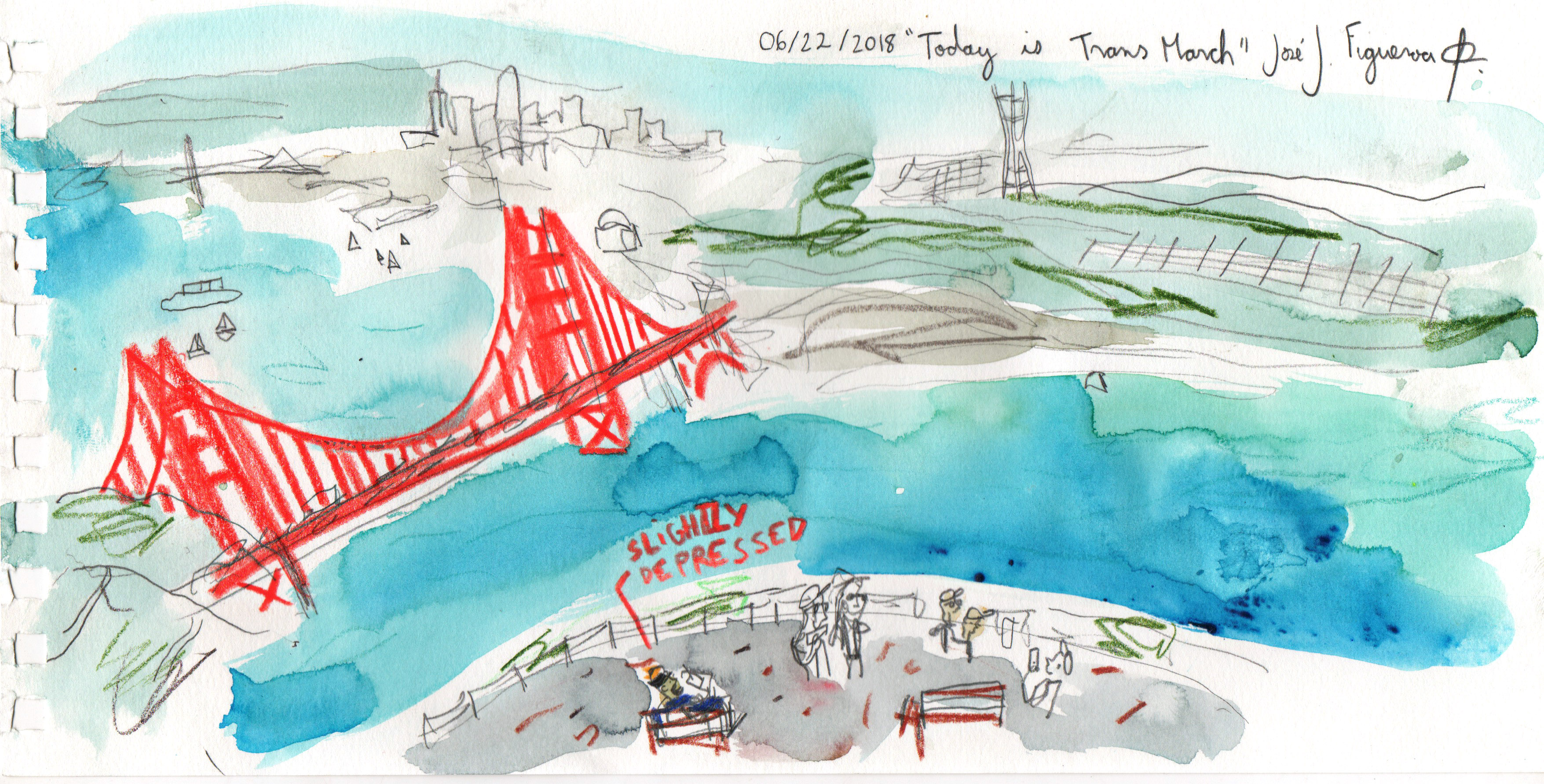 06-22-2018 today is trans march golden gate