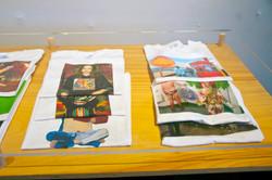T-shirts close up