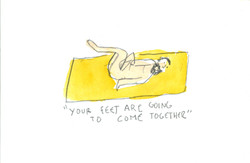 _Your feet are going to come together_