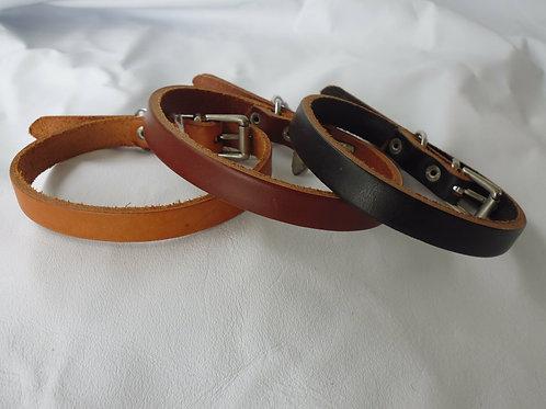 Bridle Leather Dog Collar