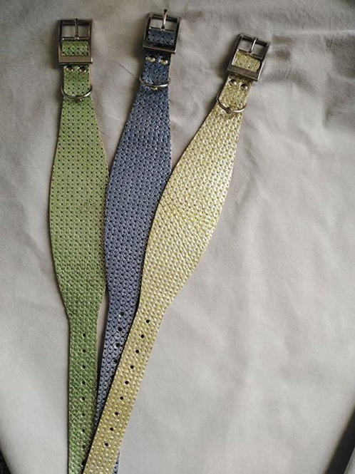 Shaped leather collars