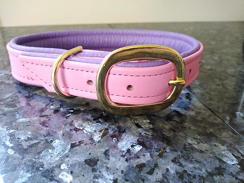 Padded flat leather collars