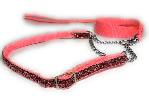 Sparkle soft webbing Show Set with adjustable collar