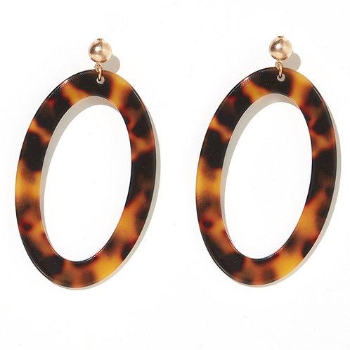Emeldo Nina Earrings / Yellow Tortise Drop Circles