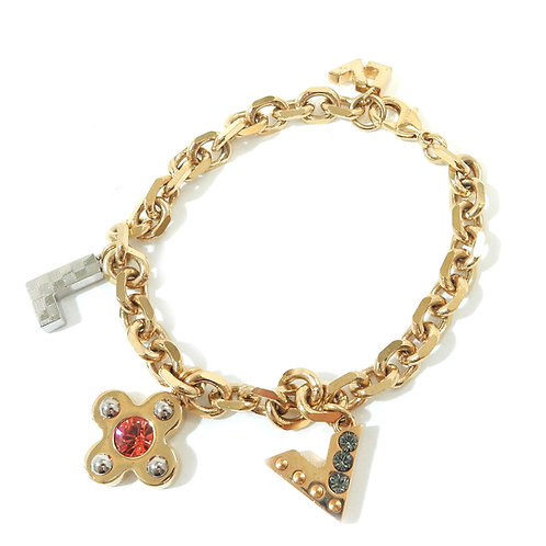 Louis Vuitton Love Letter Charm Chain Bracelet