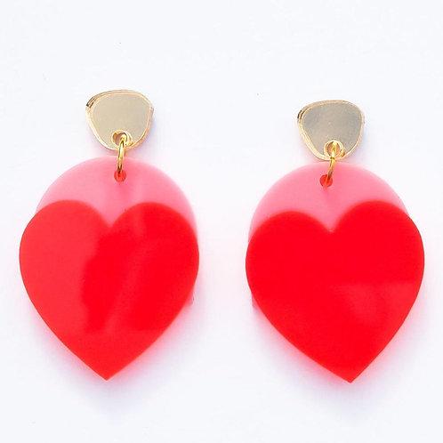 Emeldo- Just Love Me Earrings / Bright Pink, Neon Red