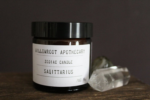 Willowroot Apothecary-   Sagittarius Zodiac Soy Candle