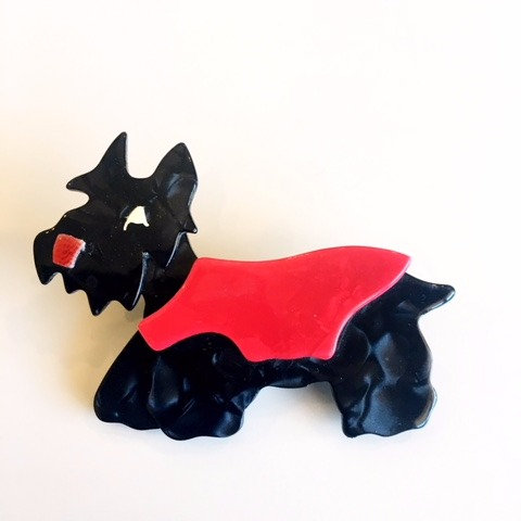 "Lea Stein Paris- ""Kimdoo"" Scottish Terrier Brooch"