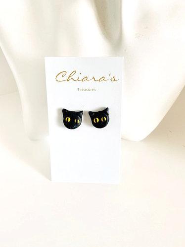 Chiara's Treasures- Black Cat studs