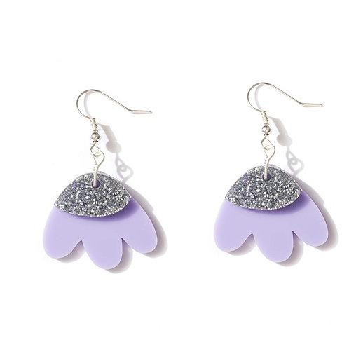 Emeldo- Elle Earrings/ Lavender & SIilver