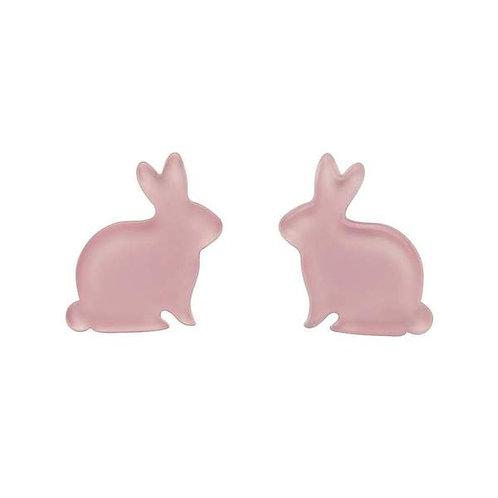 Erstwilder- Bunny Bubble Resin Stud Earrings - Pink