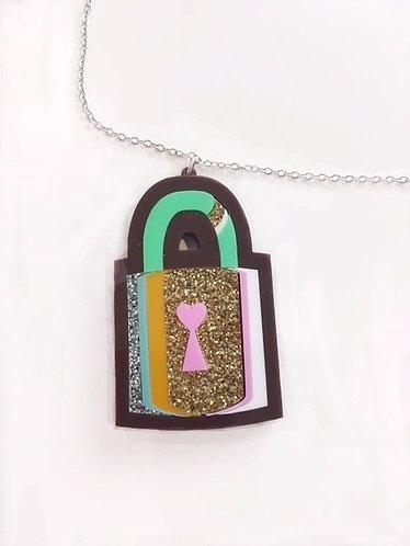 Steven Shein Glitter Locket Necklace