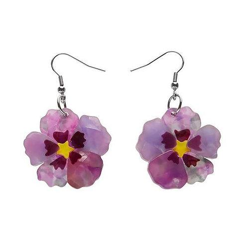 Erstwilder- Purple Prose Earrings