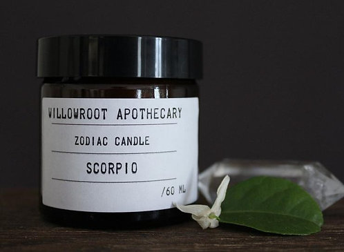 Willowroot Apothecary-   Scorpio Zodiac Soy Candle
