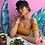 Thumbnail: Emeldo Annie Earrings / Gold Glitter with Mustard