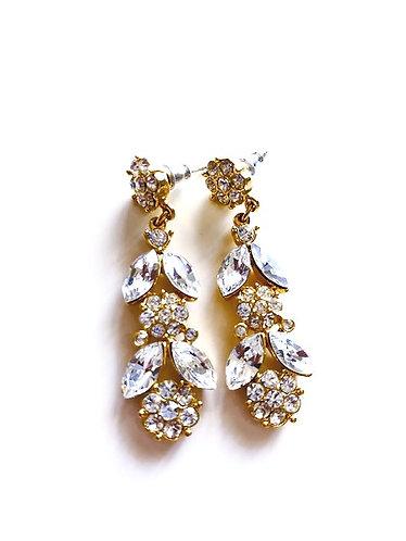 Vintage BARCS Crystal Stud Earrings