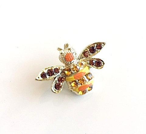 Bumble-bee Orange/Yellow Brooch