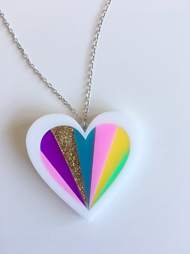 Steven Shein Love Heart Pendant Necklace