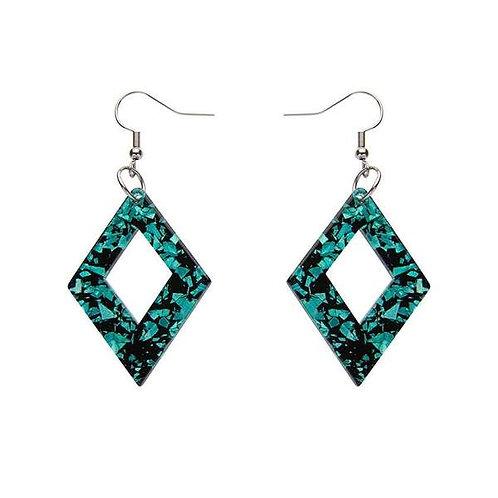 Erstwilder- Diamond Chunky Glitter Resin Drop Mint Earrings