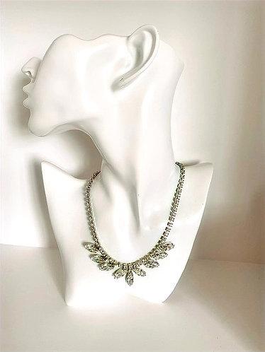 Weiss Vintage Rhinestone Necklace  1950's USA