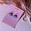 Thumbnail: Emeldo- Elle Earrings/ Lavender & SIilver