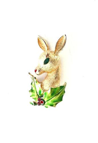 MYLU Rudoph the Red Nosed Reindeer Christmas brooch