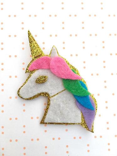 Ivy Lane Creations- Rainbow Unicorn Brooch