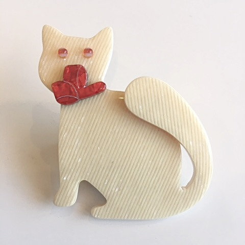 Lea Stein Paris - Watching Cat Cream