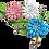Thumbnail: Crown Trifari Pastel Enamel Trio of Cornflowers Pin Brooch