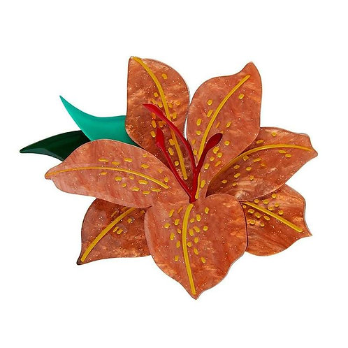 Erstwilder- Frilly Lily Frond Brooch