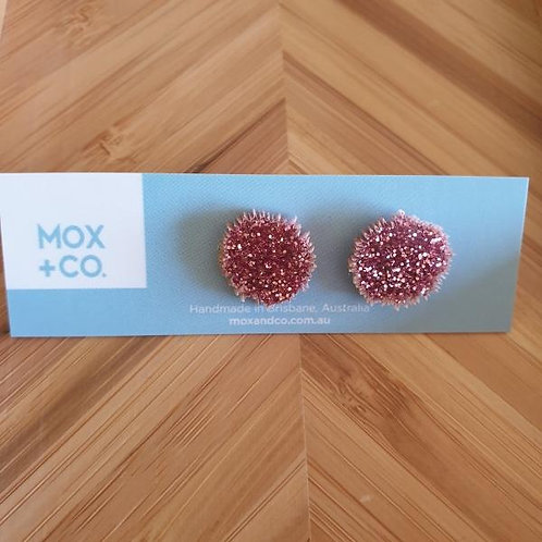 Mox and Co Sea Urchin Studs - Rose Glitter