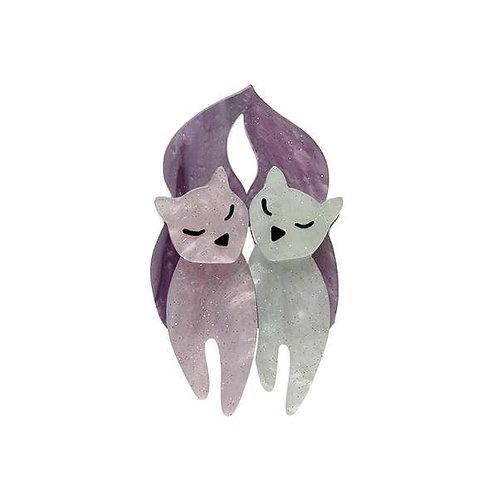 Erstwilder- The Love Cats Mini Brooch