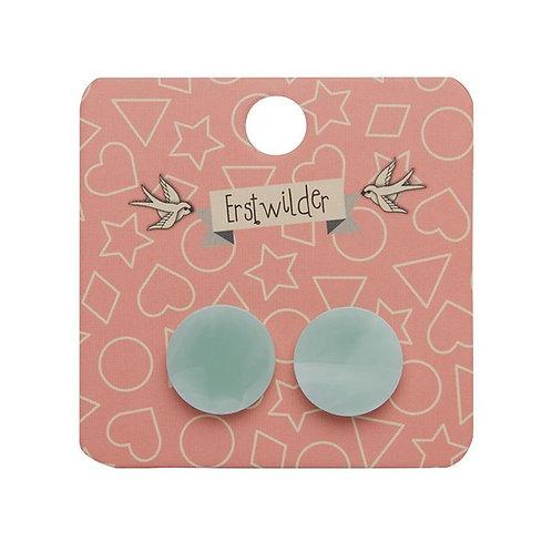 Erstwilder- Circle Solid Resin Mint Stud Earrings