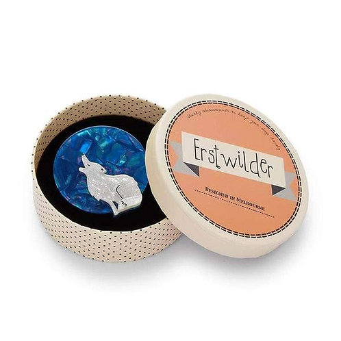 Erstwilder Howling At The Moon Brooch