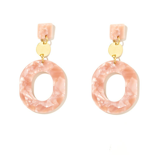 Emeldo Romy Earrings / Pink Shell + Gold