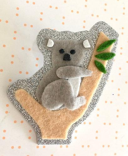Ivy Lane Creations-  Koala Bear Brooch