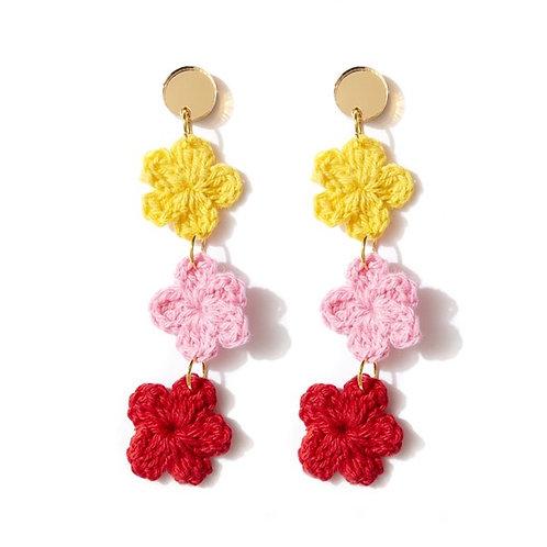Emeldo- Honolulu/ Crocheted Flowers