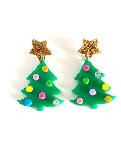 Coup De Colere-  Christmas Tree Earrings