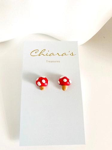 Chiara's Treasures- Toadstool Stud Clay Earrings